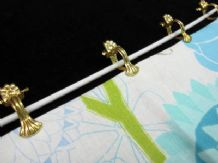 12 brass spring curtain cafe clips 16mm ring voile fabric